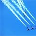 Akrobatska skupina Frecce Tricolori iznad Zadra ~ Slika 304600